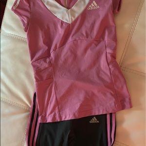 Adidas Pink/Gray Climalite/Cool Set: XS/S
